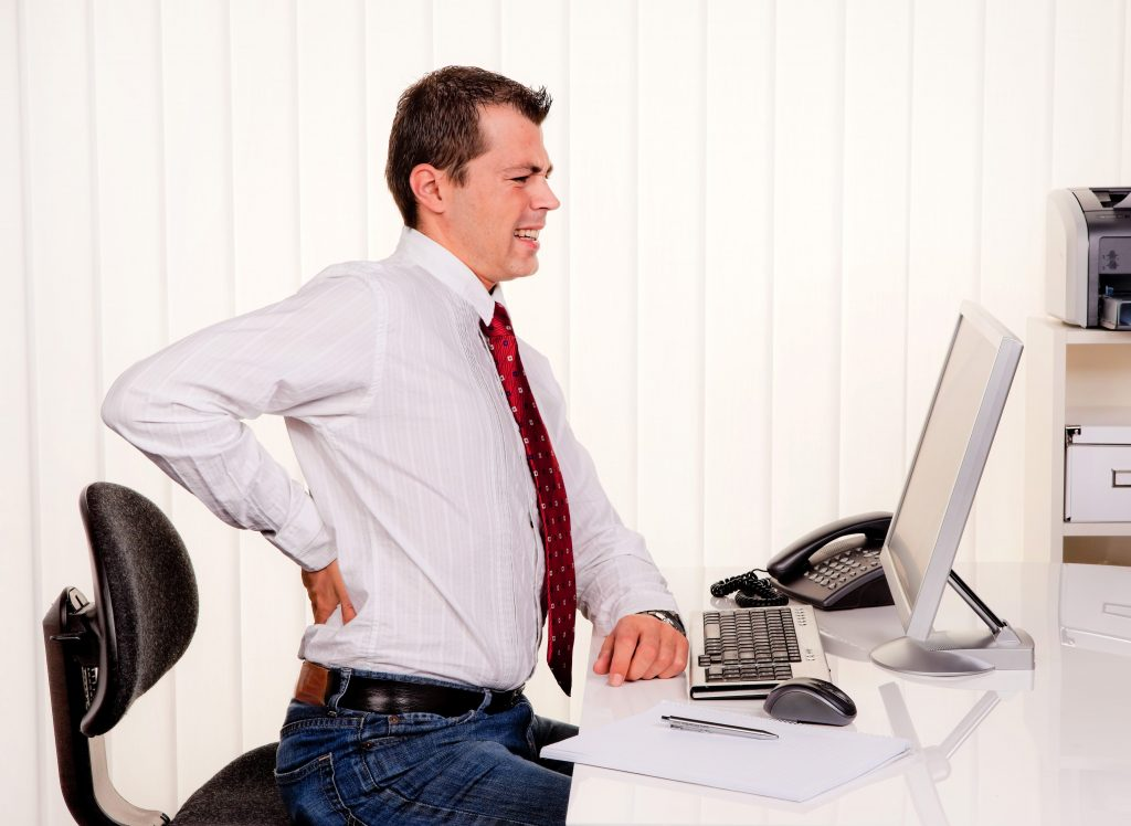 Man Desk Back Pain